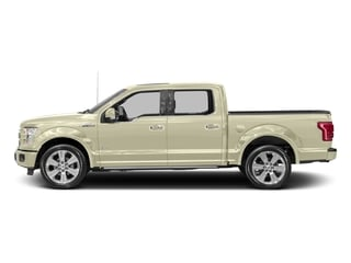 White Gold 2017 Ford F-150 Pictures F-150 Crew Cab Limited EcoBoost 2WD photos side view