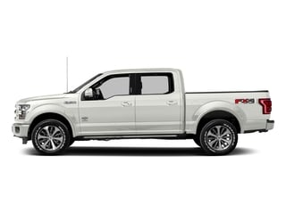 White Platinum Metallic Tri-Coat 2017 Ford F-150 Pictures F-150 Crew Cab King Ranch 4WD photos side view