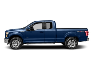 Lightning Blue 2017 Ford F-150 Pictures F-150 Supercab Lariat 2WD photos side view