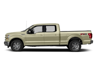 White Gold 2017 Ford F-150 Pictures F-150 Crew Cab Lariat 4WD photos side view