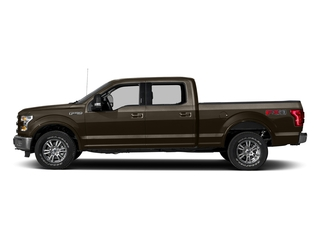 Caribou Metallic 2017 Ford F-150 Pictures F-150 Crew Cab Lariat 4WD photos side view