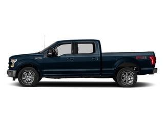 Blue Jeans Metallic 2017 Ford F-150 Pictures F-150 Crew Cab Lariat 4WD photos side view