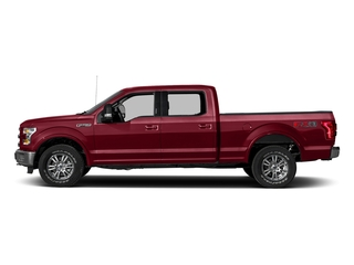 Ruby Red Metallic Tinted Clearcoat 2017 Ford F-150 Pictures F-150 Crew Cab Lariat 4WD photos side view