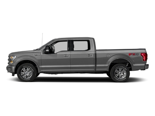 Ingot Silver Metallic 2017 Ford F-150 Pictures F-150 Crew Cab Lariat 4WD photos side view