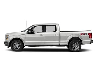 Oxford White 2017 Ford F-150 Pictures F-150 Crew Cab Lariat 4WD photos side view