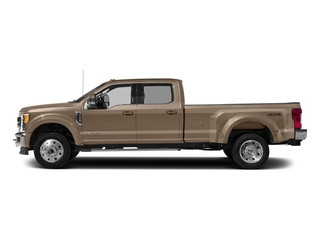 White Gold Metallic 2017 Ford Super Duty F-450 DRW Pictures Super Duty F-450 DRW Crew Cab Lariat 4WD T-Diesel photos side view