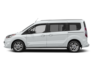 Frozen White 2017 Ford Transit Connect Wagon Pictures Transit Connect Wagon Extended Passenger Van XLT photos side view