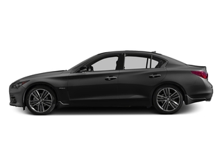 Graphite Shadow 2017 INFINITI Q50 Hybrid Pictures Q50 Hybrid Sedan 4D AWD V6 Hybrid photos side view