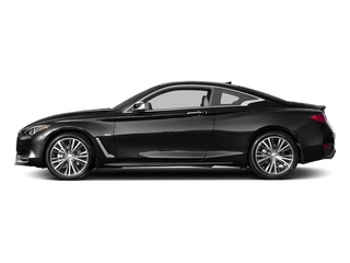Black Obsidian 2017 INFINITI Q60 Pictures Q60 Coupe 2D 2.0T Premium AWD photos side view
