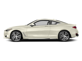 Majestic White 2017 INFINITI Q60 Pictures Q60 Coupe 2D 2.0T Premium AWD photos side view