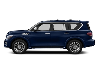 Hermosa Blue 2017 INFINITI QX80 Pictures QX80 Utility 4D Signature 2WD V8 photos side view