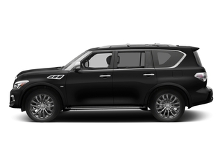 Black Obsidian 2017 INFINITI QX80 Pictures QX80 Utility 4D Limited AWD V8 photos side view