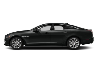 Cosmic Black 2017 Jaguar XJ Pictures XJ Sedan 4D V8 Supercharged photos side view
