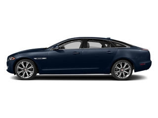 Dark Sapphire Metallic 2017 Jaguar XJ Pictures XJ XJL Supercharged RWD photos side view