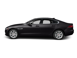 Ultimate Black Metallic 2017 Jaguar XF Pictures XF 35t Premium RWD photos side view