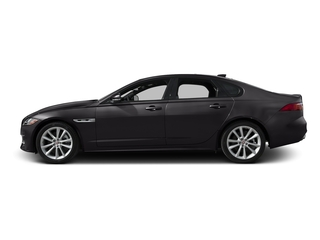Ultimate Black Metallic 2017 Jaguar XF Pictures XF Sedan 4D 35t R-Sport V6 Supercharged photos side view