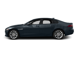 Dark Sapphire Metallic 2017 Jaguar XF Pictures XF Sedan 4D 35t R-Sport V6 Supercharged photos side view