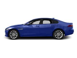 Caesium Blue Metallic 2017 Jaguar XF Pictures XF Sedan 4D 35t R-Sport V6 Supercharged photos side view