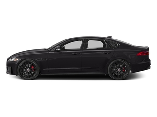 Ultimate Black Metallic 2017 Jaguar XF Pictures XF Sedan 4D S AWD V6 Supercharged photos side view