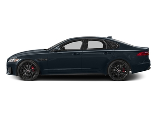 Dark Sapphire Metallic 2017 Jaguar XF Pictures XF Sedan 4D 35t AWD V6 photos side view