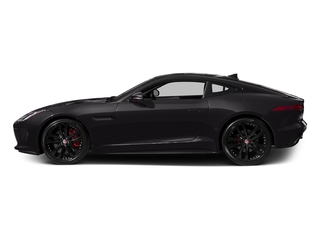 Ultimate Black Metallic 2017 Jaguar F-TYPE Pictures F-TYPE Coupe 2D S V6 photos side view
