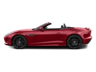 Italian Racing Red Metallic 2017 Jaguar F-TYPE Pictures F-TYPE Convertible 2D S AWD V6 photos side view