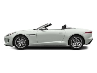 Polaris White 2017 Jaguar F-TYPE Pictures F-TYPE Convertible 2D V6 photos side view