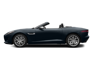 Dark Sapphire Metallic 2017 Jaguar F-TYPE Pictures F-TYPE Convertible 2D Premium V6 photos side view