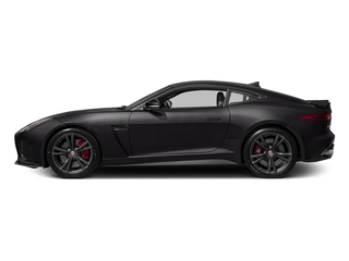 Ultimate Black Metallic 2017 Jaguar F-TYPE Pictures F-TYPE Coupe Auto SVR AWD photos side view