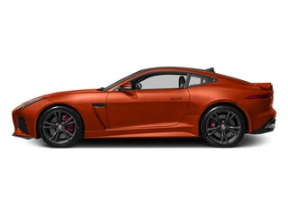 Firesand Metallic 2017 Jaguar F-TYPE Pictures F-TYPE Coupe Auto SVR AWD photos side view