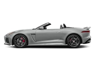 Rhodium Silver Metallic 2017 Jaguar F-TYPE Pictures F-TYPE Convertible 2D SVR AWD V8 photos side view