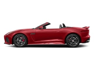 Caldera Red 2017 Jaguar F-TYPE Pictures F-TYPE Convertible 2D SVR AWD V8 photos side view