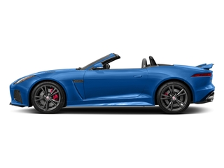 Ultra Blue Metallic 2017 Jaguar F-TYPE Pictures F-TYPE Convertible 2D SVR AWD V8 photos side view