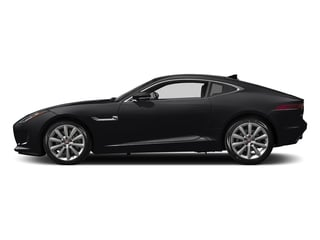 Ebony Black 2017 Jaguar F-TYPE Pictures F-TYPE Coupe Auto photos side view
