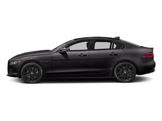 Ultimate Black Metallic 2017 Jaguar XE Pictures XE Sedan 4D 25t Premium I4 Turbo photos side view