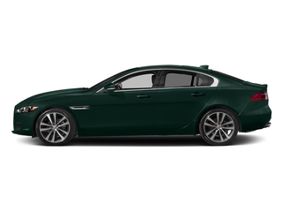 British Racing Green Metallic 2017 Jaguar XE Pictures XE Sedan 4D 20d Prestige I4 AWD T-Dsl photos side view