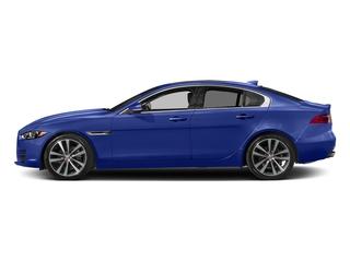 Caesium Blue Metallic 2017 Jaguar XE Pictures XE Sedan 4D 20d Prestige I4 AWD T-Dsl photos side view