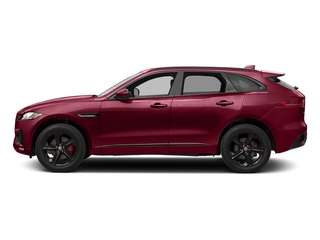 Odyssey Red Metallic 2017 Jaguar F-PACE Pictures F-PACE Utility 4D S AWD V6 photos side view