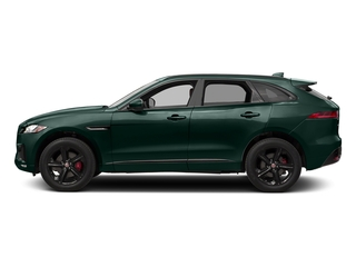 British Racing Green Metallic 2017 Jaguar F-PACE Pictures F-PACE Utility 4D S AWD V6 photos side view