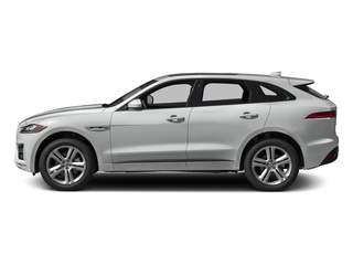 Rhodium Silver Metallic 2017 Jaguar F-PACE Pictures F-PACE Utility 4D 35t R-Sport AWD V6 photos side view