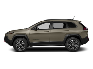Light Brownstone Pearlcoat 2017 Jeep Cherokee Pictures Cherokee Trailhawk 4x4 *Ltd Avail* photos side view