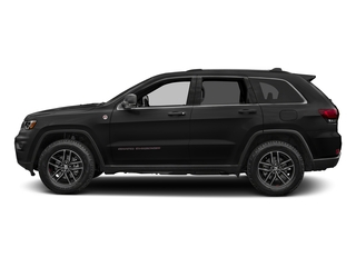 Diamond Black Crystal Pearlcoat 2017 Jeep Grand Cherokee Pictures Grand Cherokee Utility 4D Trailhawk 4WD photos side view