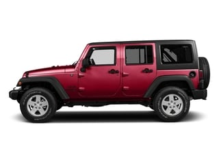Firecracker Red Clearcoat 2017 Jeep Wrangler Unlimited Pictures Wrangler Unlimited Utility 4D Unlimited Sport 4WD V6 photos side view