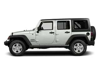 Bright White Clearcoat 2017 Jeep Wrangler Unlimited Pictures Wrangler Unlimited Utility 4D Unlimited Sport 4WD V6 photos side view