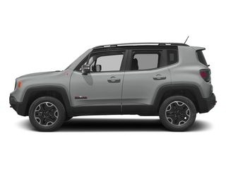 Glacier Metallic 2017 Jeep Renegade Pictures Renegade Utility 4D Trailhawk AWD photos side view