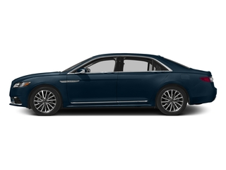 Midnight Sapphire Blue Metallic 2017 Lincoln Continental Pictures Continental Sedan 4D Livery photos side view