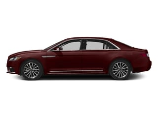 Burgundy Velvet Tinted Clearcoat 2017 Lincoln Continental Pictures Continental Sedan 4D Livery photos side view