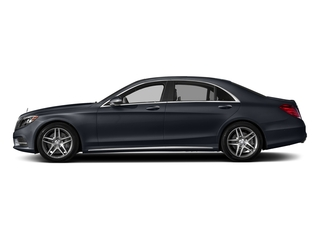 Anthracite Blue Metallic 2017 Mercedes-Benz S-Class Pictures S-Class S 550 Sedan photos side view