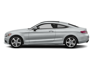 Iridium Silver Metallic 2017 Mercedes-Benz C-Class Pictures C-Class C 300 Coupe photos side view