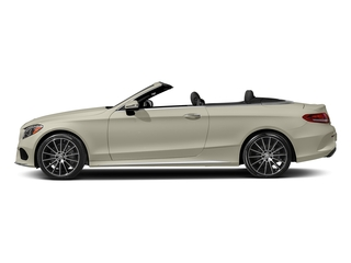 designo Diamond White Metallic 2017 Mercedes-Benz C-Class Pictures C-Class Convertible 2D C300 AWD I4 Turbo photos side view